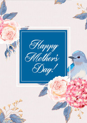 Happy Mother's Day Blue Bird Card