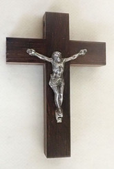 Dark Rosewood Crucifix