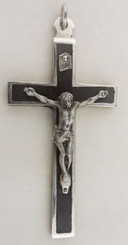 Ebony Metal back crucifix