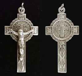 Lily St. Benedict sterling silver Crucifix