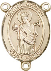 "St. Aedan Of Ferns - .75"" Oval - Gold Filled Centerpiece"