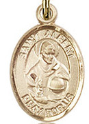 "St. Albert the Great  - .50"" Oval - Gold Filled Side Medal"