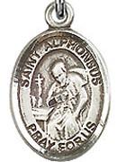 "St. Alphonsus - .50"" Oval - Sterling Silver Side Medal"
