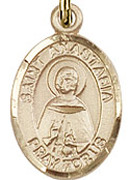 "St. Anastasia - .50"" Oval - Gold Filled Side Medal"