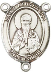 "St. Athanasius - .75"" Oval - Sterling Silver Centerpiece"