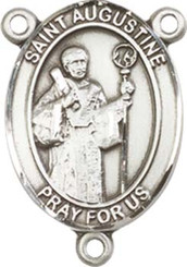 """St. Augustine - .75"""" Oval - Sterling Silver Centerpiece"""