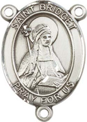 "St. Bridget of Sweden - .75"" Oval - Sterling Silver Centerpiece"