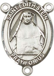"St. Edith Stein  - .75"" Oval - Sterling Silver Centerpiece"