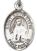 "St. Edith Stein - .50"" Oval - Sterling Silver Side Medal"