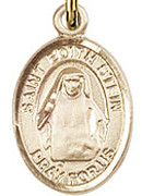 "St. Edith Stein - .50"" Oval - Gold Filled Side Medal"