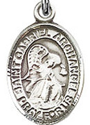"St. Gabriel the Archangel - .50"" Oval - Sterling Silver Side Medal"