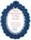divine infant jesus badge blue back