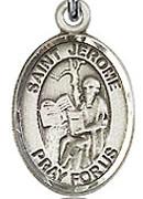 "St. Jerome - .50"" Oval - Sterling Silver Side Medal"