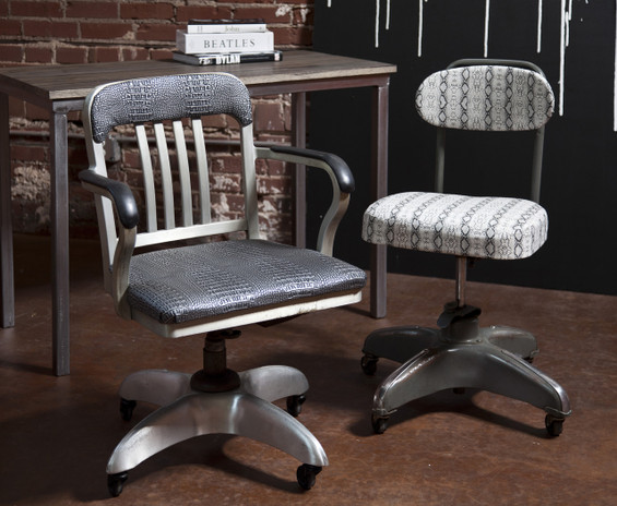 ... Vintage Industrial Office Chairs. Image 1