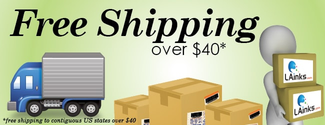 free shipping over $40 at LAinks.com
