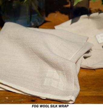 Organic Merino Wool / Silk Wraps Fog