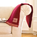 Red Organic Merino Wool Throw (not currently available)