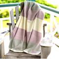 Organic Merino Wool Throws Color Blocks - Various Colors