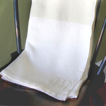 Organic Merino Wool Throw white on white