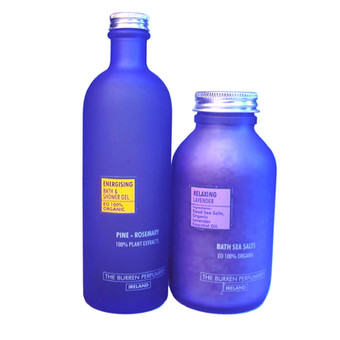 Organic Aromatherapy Shower Gel and Bath Salts Set