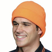 H025 Hi Vis Micro Fleece Beanie Orange