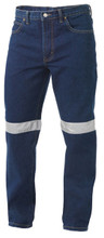 K53030 - King Gee Reflective Work Jean with 3M Ref Tape - Stonewash