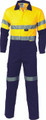 3955 HiVis Cool-Breeze two tone L.Weight Cotton Coverall with 3M R/Tape