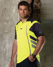 V1004 - Visitec Airwear Warrior Short Sleeve Hi Vis Polo Shirt