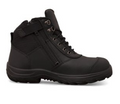 34-660 Ankle Height Lace Up Zip Side Boot, Water Resistant Full Grain Leather / Cordura, Fully Lined