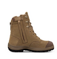 34-674 190mm Zip Side Lace Up Boot, Water Resistant Suede Leather, Fully Lined, Toe Scuff Protection.