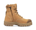 """150mm (6"""") Lace Up Boot, Water Resistant Nubuck Leather, Fully Lined, Lace Locking Device, Composite Toe Cap, Side Zip"""
