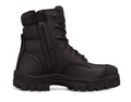 """150mm (6"""") Lace Up Boot, Water Resistant Full Grain Leather, Fully Lined, Lace Locking Device, Composite Toe Cap, Side Zip"""