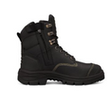 """150mm (6"""") Zip Sided Lace Up Boot, Water Resistant Full Grain Leather, Lace Locking Device."""