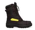 "230mm (9"") Lace Up Structural Fire Fighters Boot, Composite Toe Cap, Lace In Zipper Attachment."