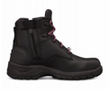 Ankle Height Lace Up Boot, Water Resistant Full Grain Leather, Padded Collar, Fully Lined.