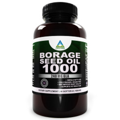 Super GLA 1000 Mg Borage Seed Oil Best Natural Health and Belly Fat Fighter As Rec by Dr. Oz