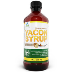 100% Pure All Natural Yacon Root Syrup 8 oz. , Low Calorie Sweetener. All Natural. 50% FOS, Prebiotics, Metabolism Boost