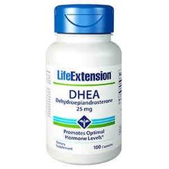 DHEA (Dehydroepiandrosterone), 25 mg 100 capsules
