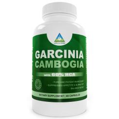 Garcinia Cambogia 60% Hydroxycitric Acid (Clinically Proven HCA) 60 Capsules 1000 Mg Per 2 Capsules