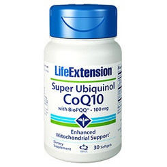 Super Ubiquinol CoQ10 with BioPQQ, 100 mg, 30 softgels