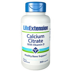 Calcium Citrate with Vitamin D, 300 capsules