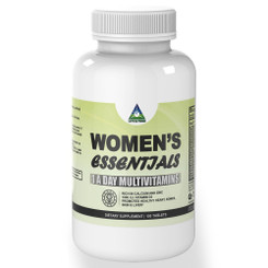 Women's Essential 1 A DAY Multivitamins – Rich in Iron, Calcium, Zinc with 1000 I.U. Vitamin D3. 100 Tablets Wheat and Gluten Free