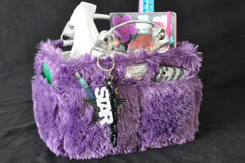 Kiss & Cry FLUFFY - PURPLE RINK TOTE
