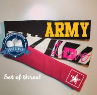 3 pack ARMY branch headband set $12.95