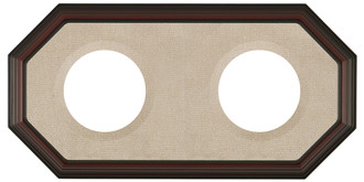352 Double Collector Plate Frame Rosewood - Champagne Velvet