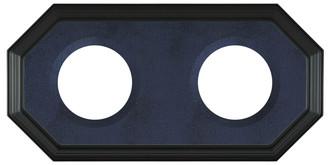 352 Double Collector Plate Frame Matte Black - Blue Velvet
