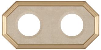 352 Double Collector Plate Frame Desert Gold - Champagne Velvet