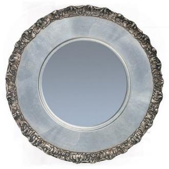 Model #6 – Silver Leaf Circle Framed Mirror