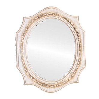 Oval Picture Frame in Antique White