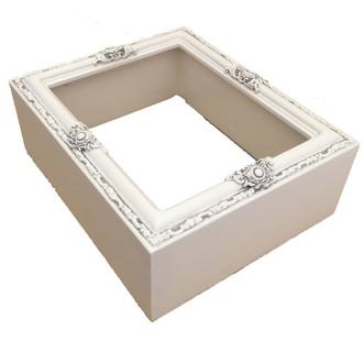 Custom Rectangle Shadowbox in Linen White